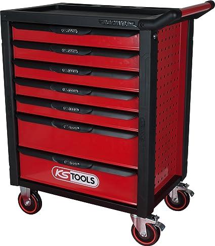 KS Tools 826.0007 racingline Negro/Rojo carro de taller con ...