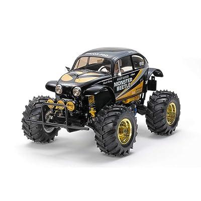 Tamiya America, Inc 1/10 Monster Beetle 2WD Kit, Black, TAM47419: Toys & Games