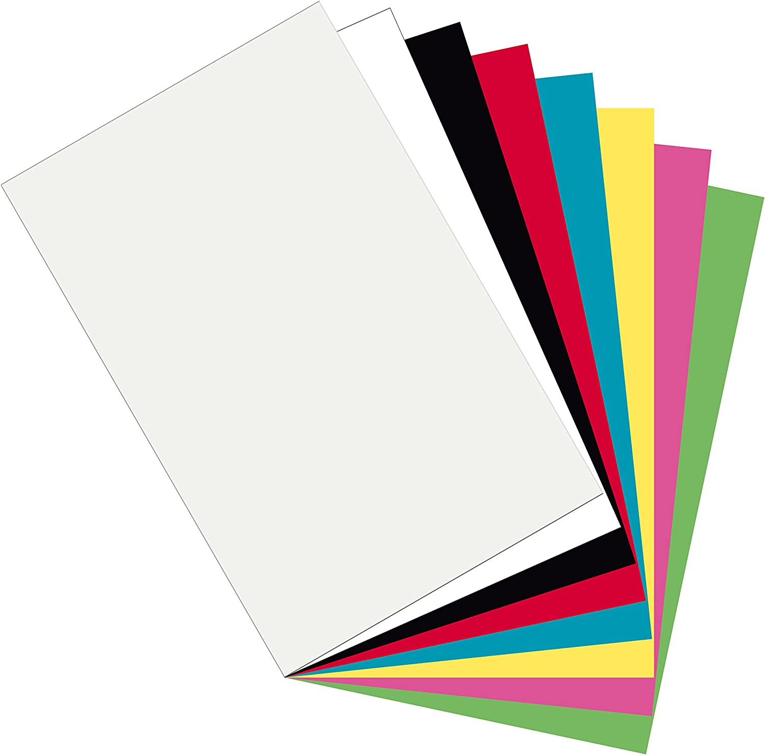 Pacon Plastic Art Sheets Assorted 8 Colors 11
