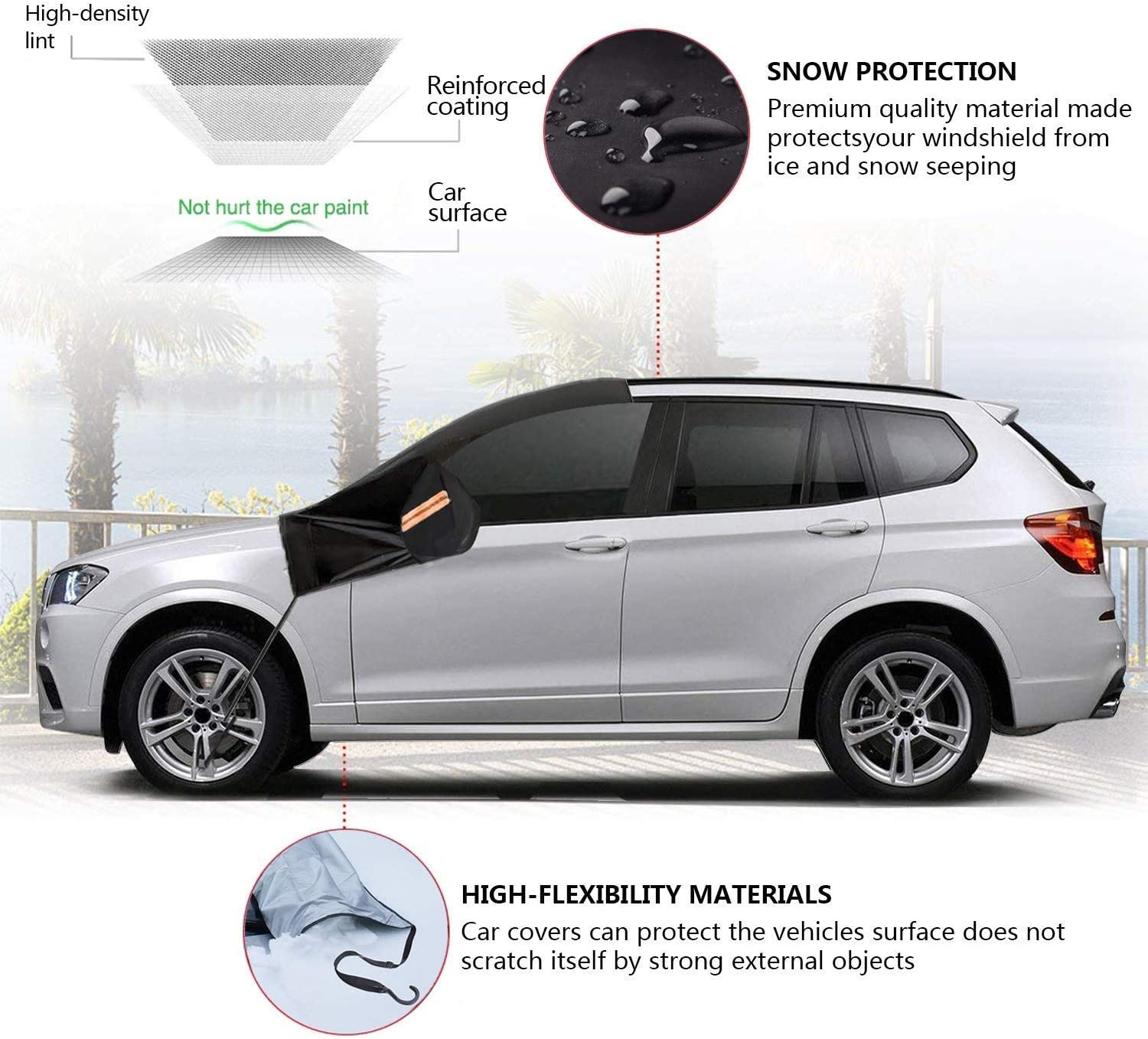 Snow Protection Cover Prevent Resistant Scratching Thin Car Half High Quality