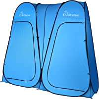 WolfWise Camping Toilet Tent Pop Up Shower Privacy Tent for Outdoor Changing Dressing Fishing Bathing Storage Room Tents, Portable with Carrying Bag