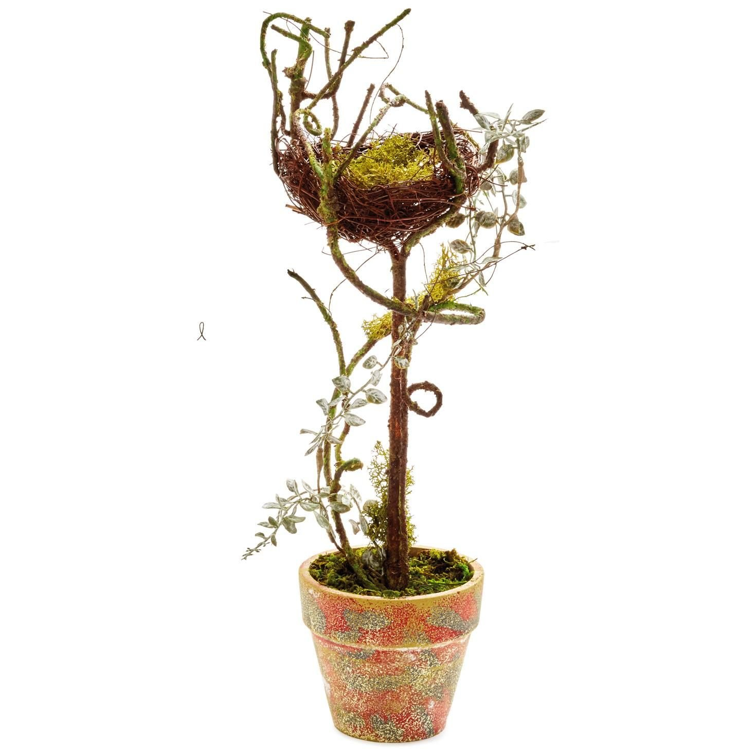 Bird's Nest Potted Decoration, 20'' Decorative Accessories Animals & Nature
