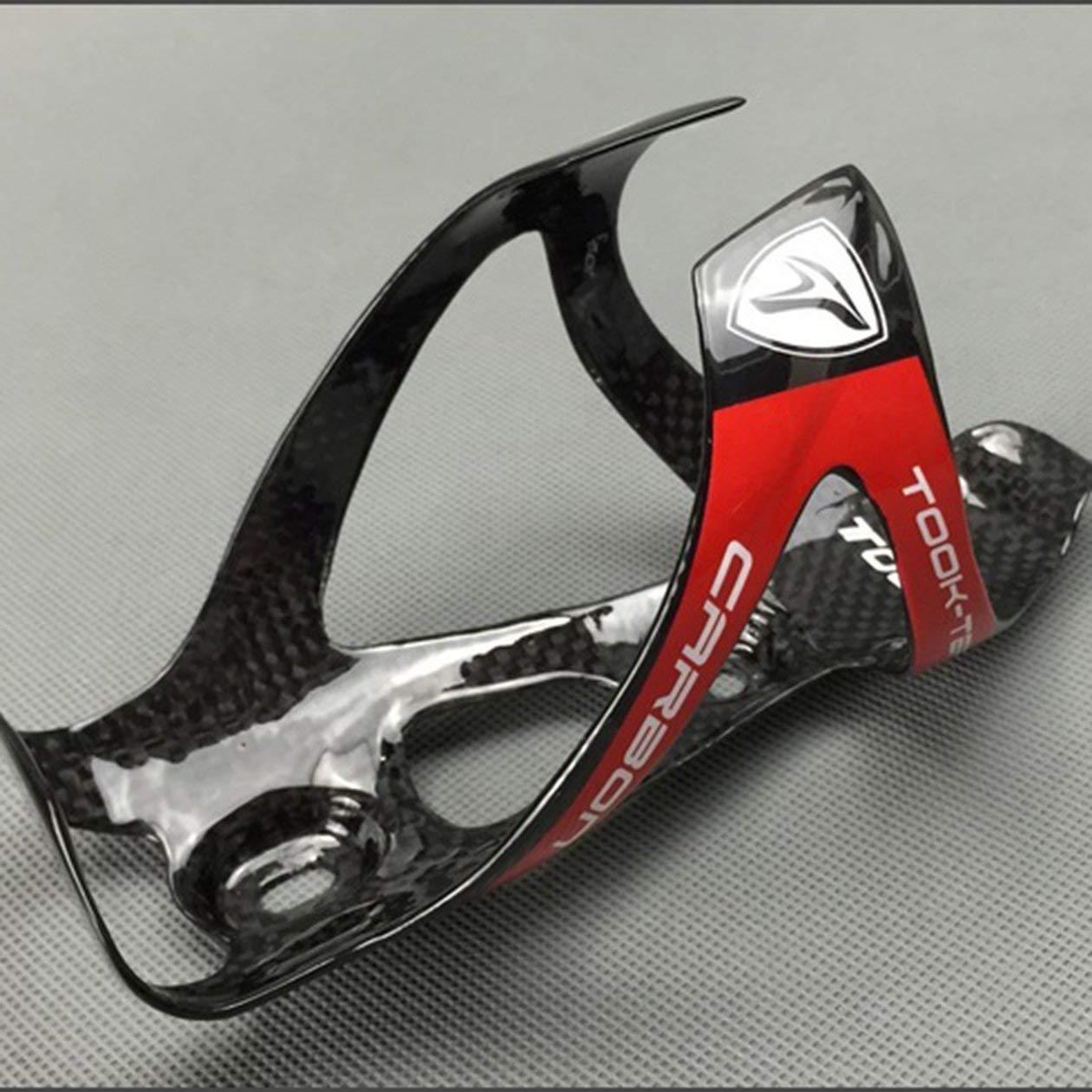 Heraihe Soporte para Botella de decantarse por Completo Ligero de Fibra de Carbono Carretera Bicicleta de monta/ña de Agua de Bicicletas Plegables Portabid/ònes Accesorios de Bicicletas
