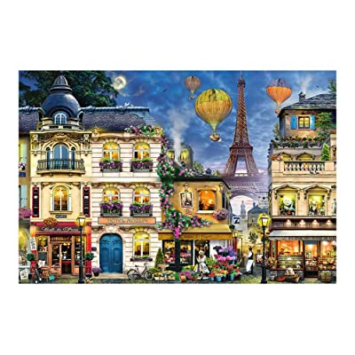 DRAGON SONIC 300 Piece Wooden Jigsaw Puzzle for Stress Relief/Education, Romantic Paris, A8: Toys & Games