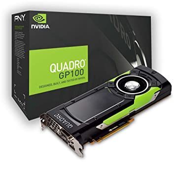PNY Quadro GP100 Quadro GP100 16GB High Bandwidth Memory (HBM) - Tarjeta gráfica (Quadro GP100, 16 GB, High Bandwidth Memory (HBM), 4096 bit, 5120 x ...