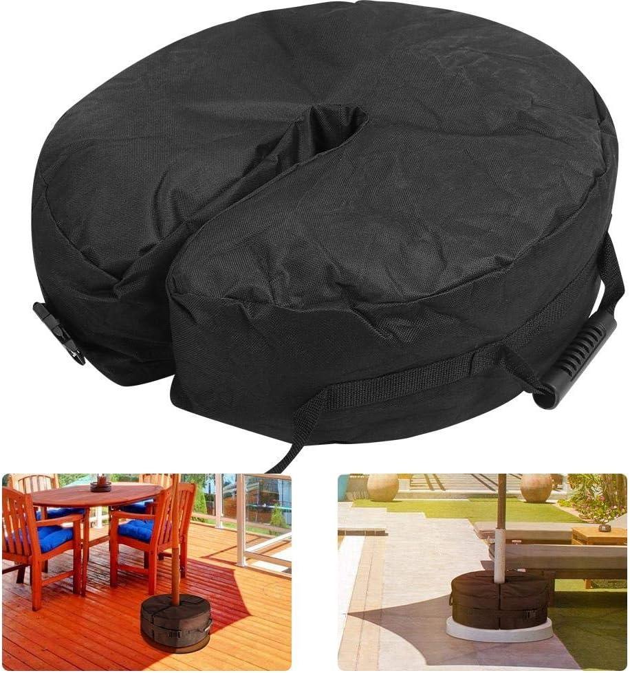 xnbnsj Umbrella Base Weight Bag Round Detachable Patio Umbrella Parasol Sun Shade Stand Fixed Ten Sand Bag