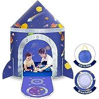 Lektält för barn, rymdtält barn pop up tält prins slott hus palats tält spel tält med bärväska bärbar leksak jul…