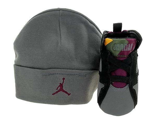 online retailer 759fa b4e75 Amazon.com   Jordan Nike Toddlers 7 Retro Gift Pack Black Brdx Lt Grpht Mdnght  Fg Basketball Shoe 2 Infants US   Running