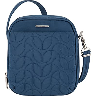 2f71a5f945 Travelon Anti-Theft Quilted Tour Bag - Extra Small RFID Lined Crossbody for  Travel &