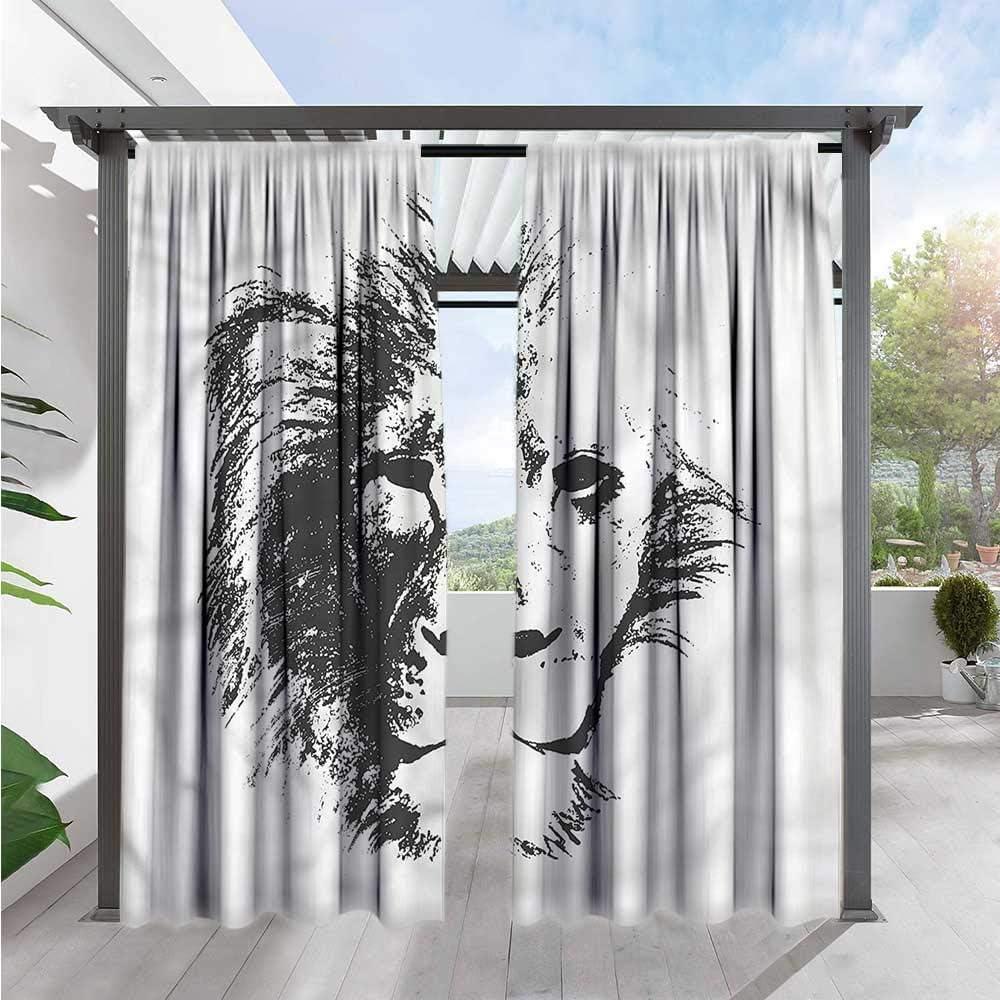 Marilds Tattoo - Cortina para Puerta corredera, diseño de león de la Jungla: Amazon.es: Jardín
