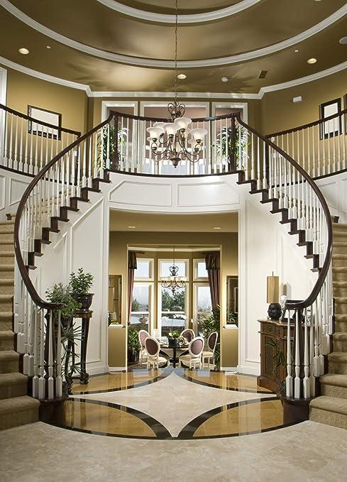 Telón de Fondo para Estudio fotográfico, diseño de escaleras Dobles para Interiores de 6 x 8 pies, para Bodas, escaleras Elegantes, para Sala de Estar, fotografía: Amazon.es: Electrónica