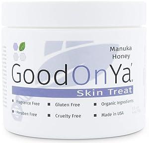 Manuka Honey Face Moisturizer with Coconut Oil, Cocoa Butter, Aloe Vera, Vitamin E and Vitamin C - Anti Aging and Skin Lightening Cream - Pore Minimizer and Whitening MSM Cream - (4 oz)