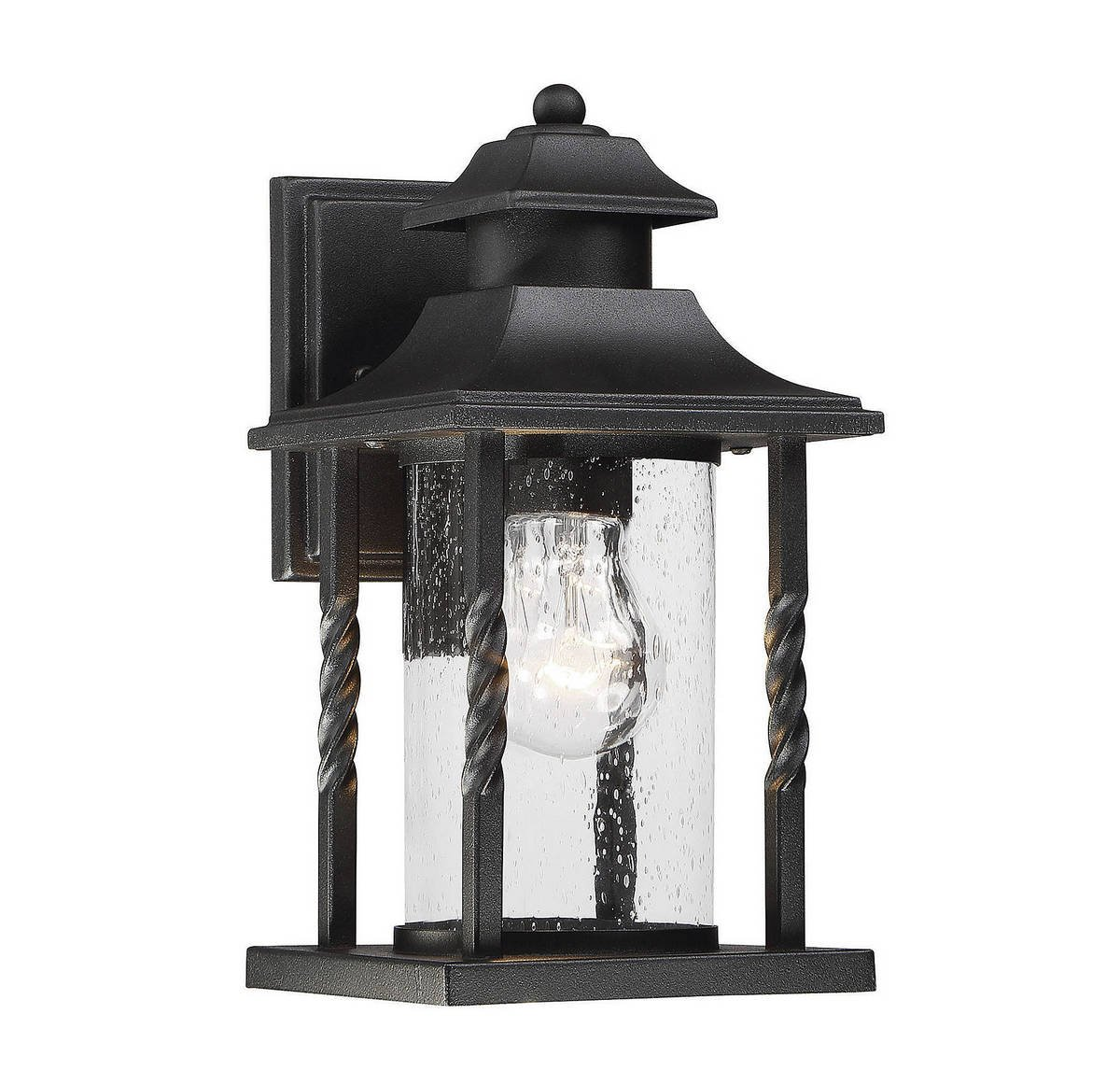 Savoy House 5-1230-BK Dorado 11.5'' Outdoor Wall Lantern in Textured Black
