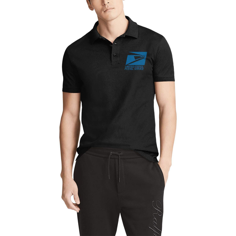 Federal-Express-Symbol-Logo Vintage Black Polo Shirt Work Uniform Salahe Mens
