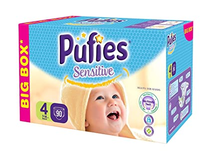 Pufies Sensitive Talla 4, 7-14 Kg - 90 Pañales