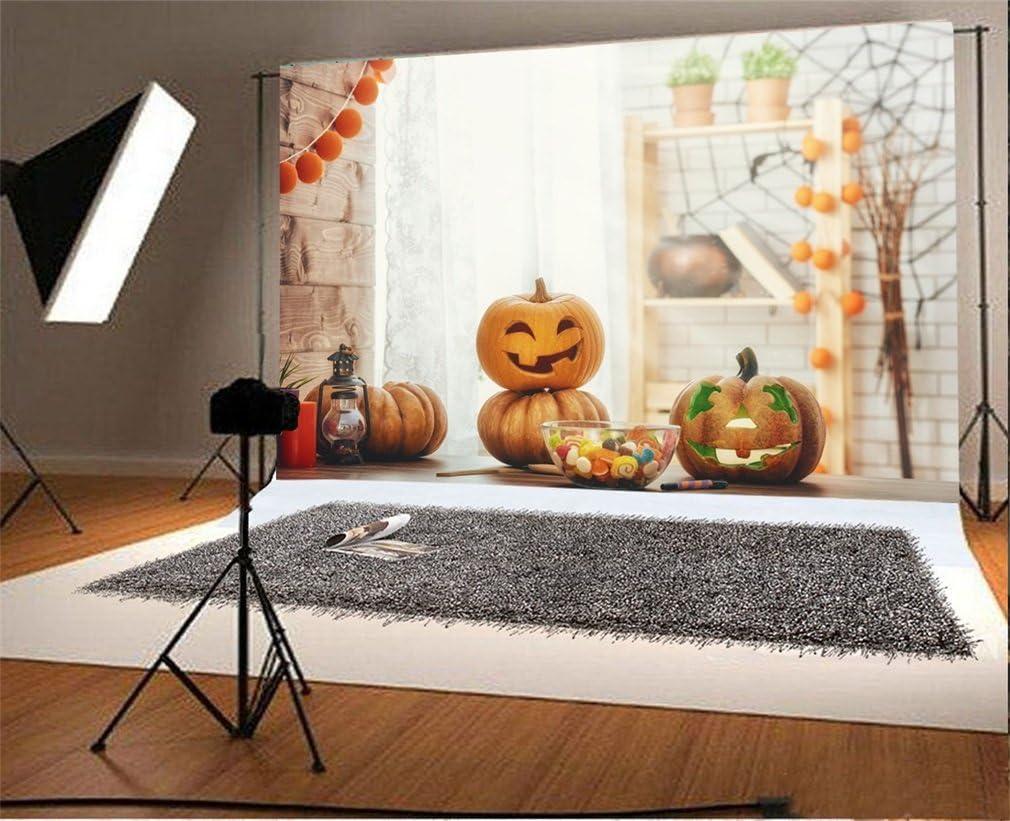 Yongfoto 3x2m Vinyl Foto Hintergrund Halloween Kürbis Kamera