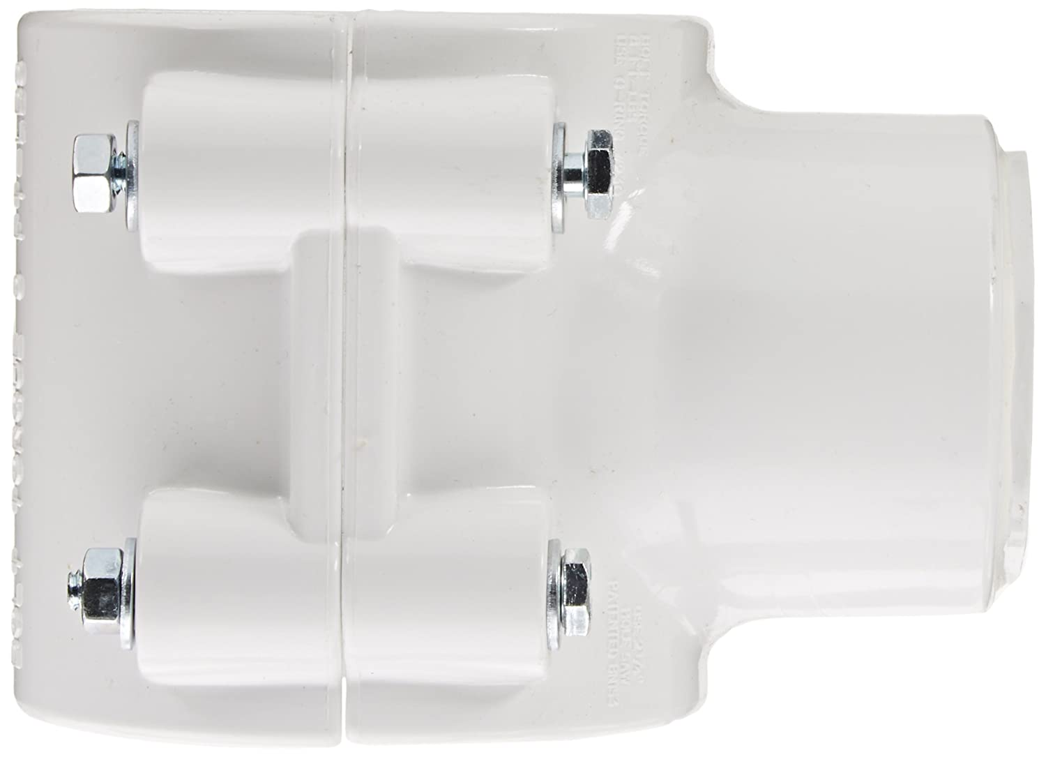 Zink Bolt Schedule 40 2 IPS OD x 1//2 Socket Spears 466 Series PVC Clamp-On Saddle with Buna O-Ring White