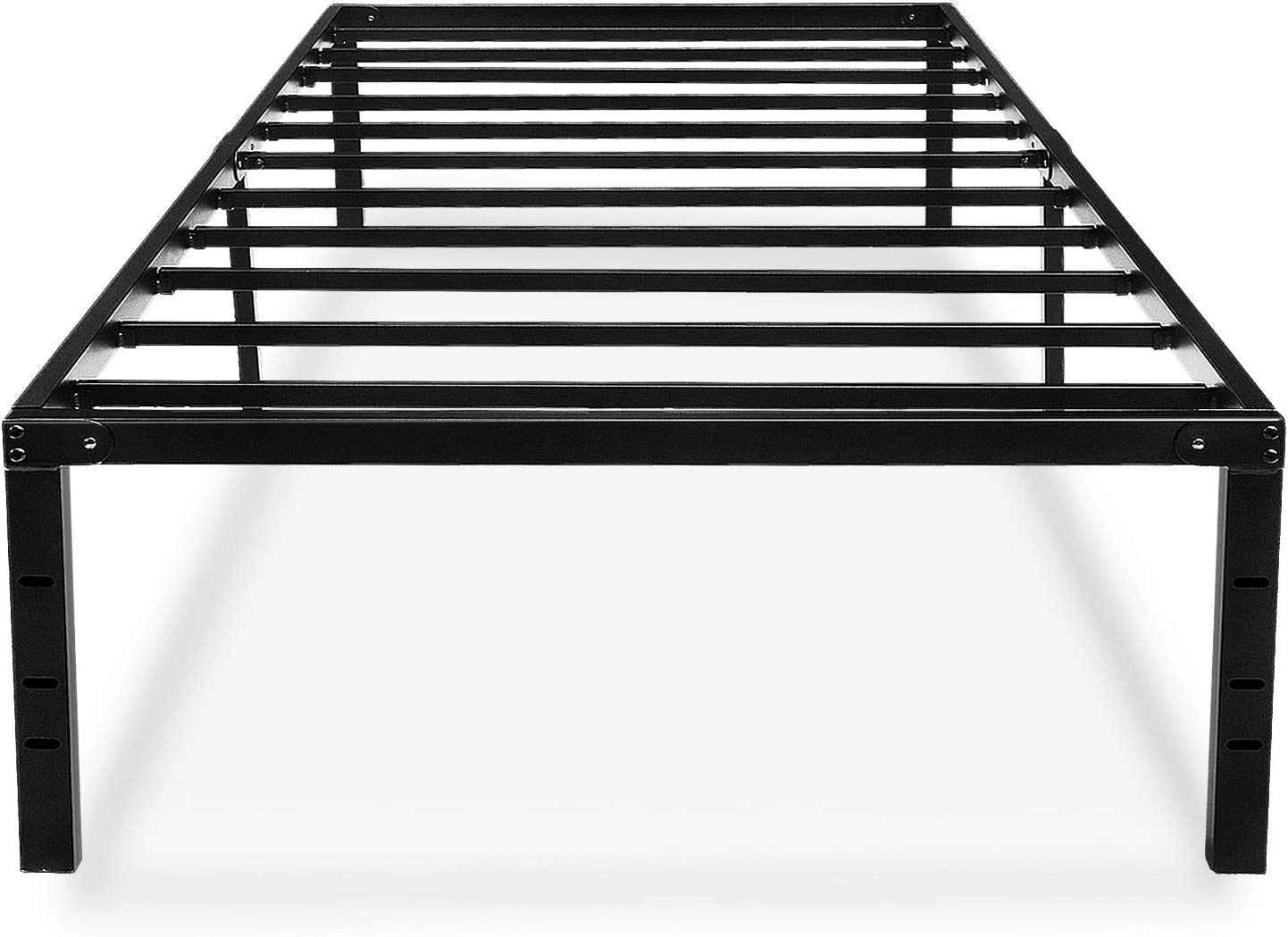 Twin Bed Frame 18 Inches High Metal Platform No Box Spring Needed With Storage For Kids Girls Boys