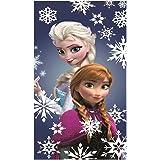 Serviette Bain Coton Disney Officiel Reine Des Neiges Elsa Anna Flocons Neige