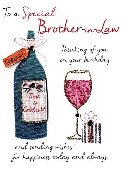 Special Brother In Law Birthday Greeting Card Second Nature Just To Say Cards Amazoncouk Office Products