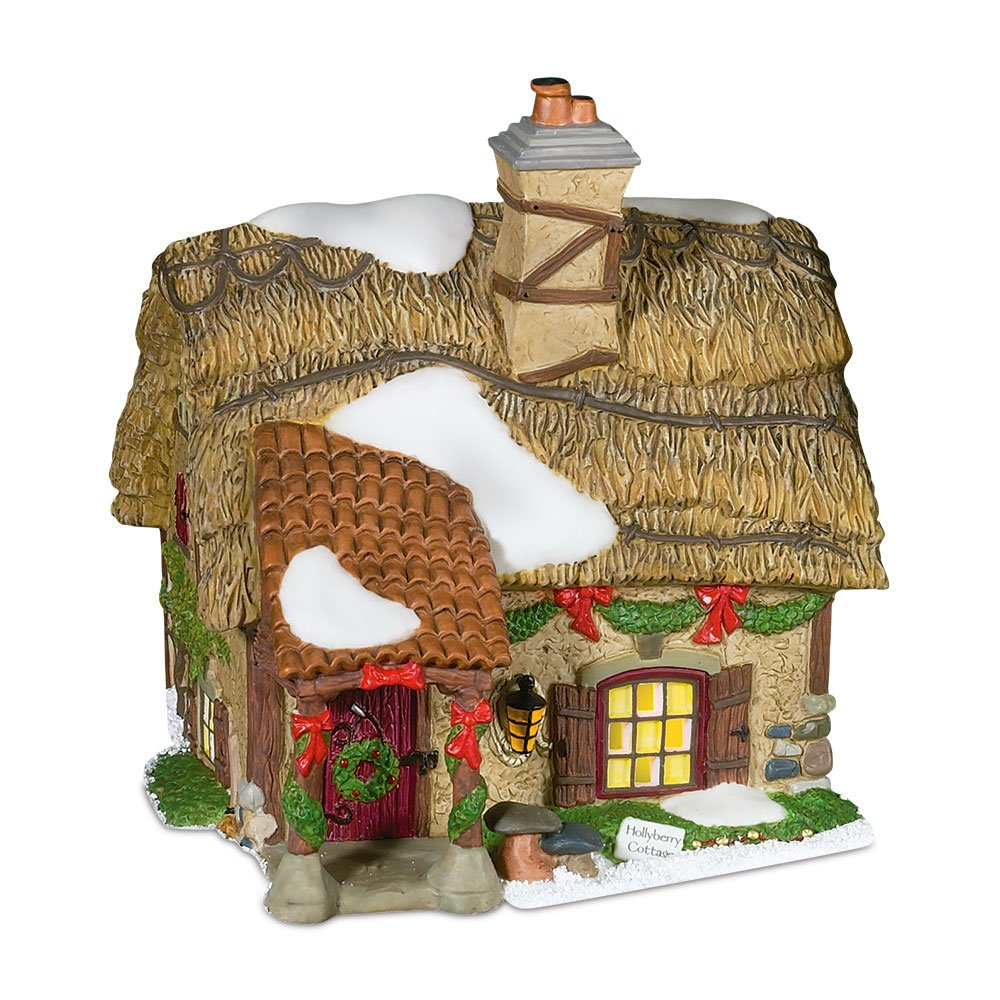 Department 56.58729 Dickens' Village Hollyberry Cottage Building