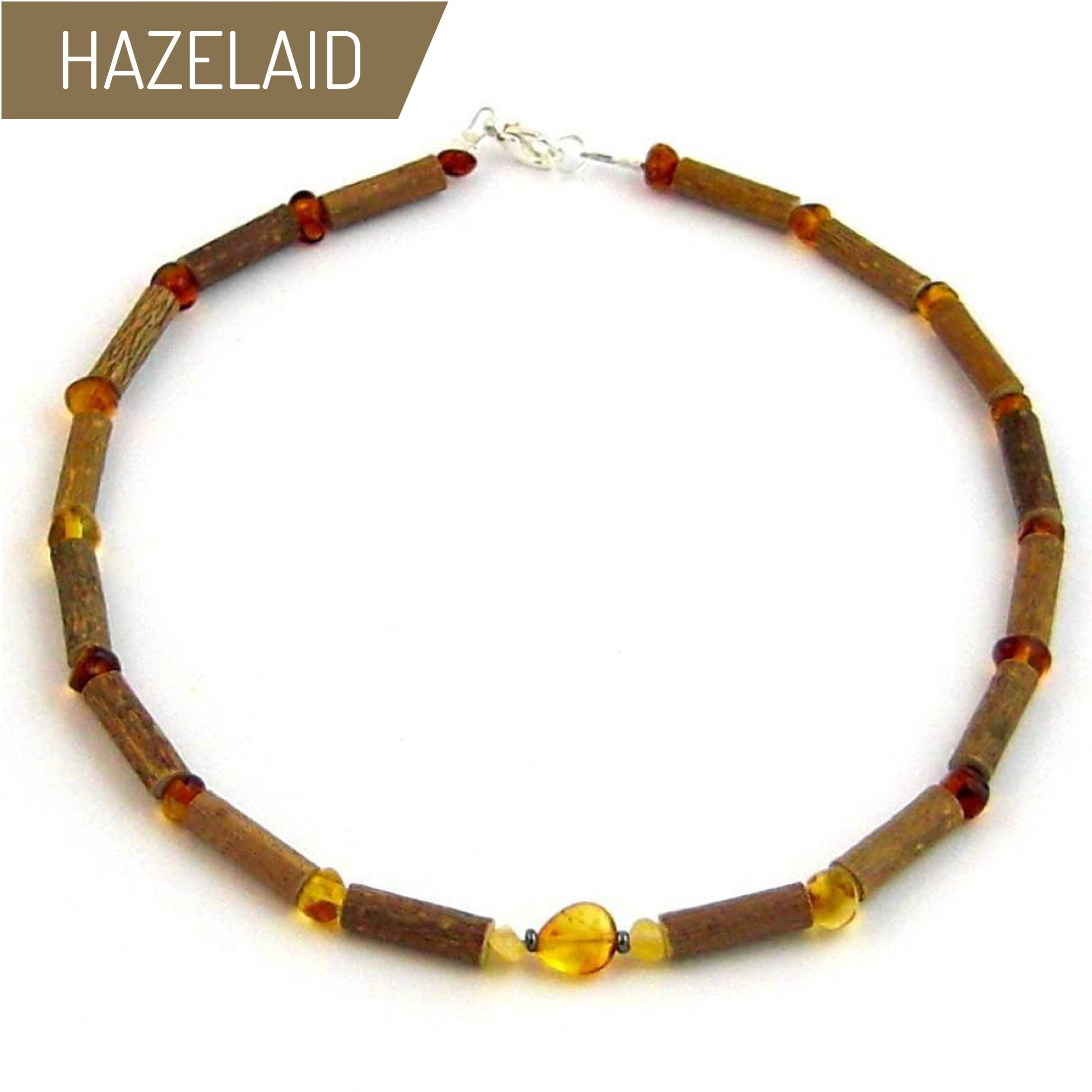 Hazelaid (TM) Child Hazelwood-Amber Necklace - 13.5'' Honey