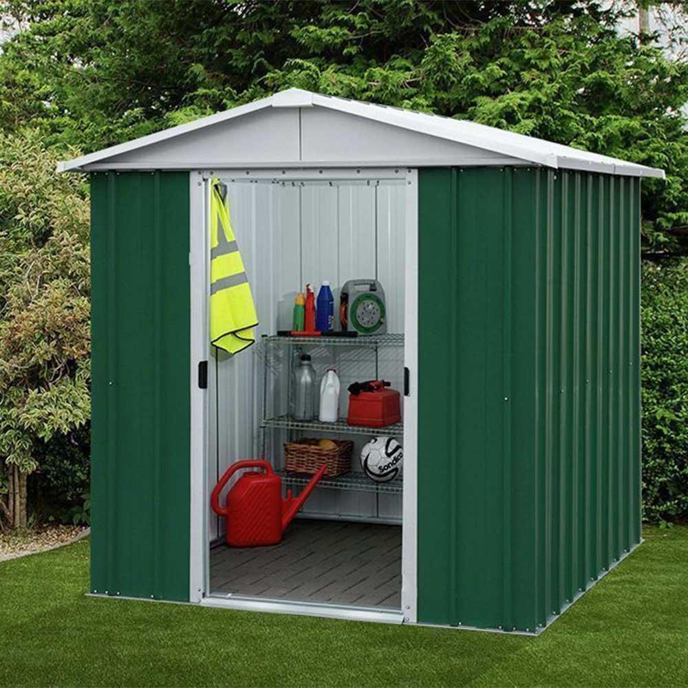 Yardmaster 6 x7 Metal caseta de jardín Apex techo 10 años de garantía: Amazon.es: Jardín