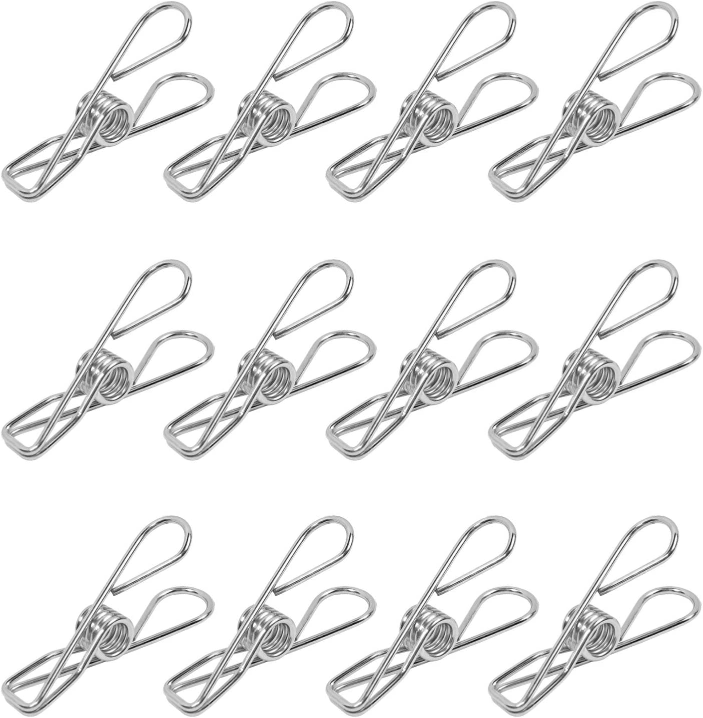 Millennial Essentials 30 Pack Stainless Steel Clothespins 2.2 Inch Clothes Pins Wire Clip Multi Purpose Utility Clips for Hanging Clothes Clothesline Laundry Clip (30)