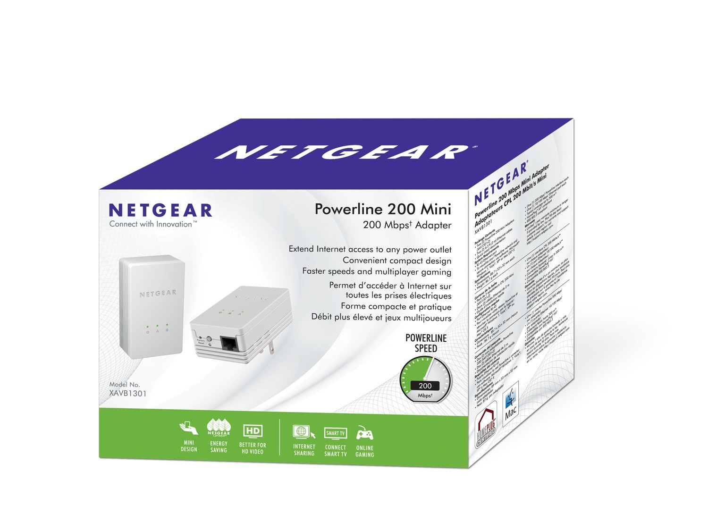 NETGEAR Powerline 200Mbps Mini Adapter - Starter Kit (XAVB1301) by NETGEAR (Image #7)