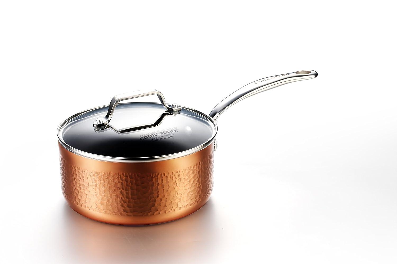 COOKSMARK induccion Juegos de sartenes y ollas bateria de cocina juego ollas cazuela antiadherente de cobre aluminio tapa lavavajillas 10 piezas: Amazon.es: ...