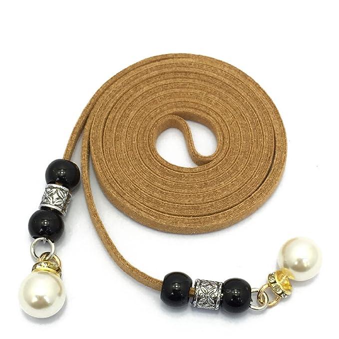 HGDR Cadena De La Cintura Las Mujeres Las Perlas Cinturones Vestidos Decoración Cuerda De La Cintura Más Tamaño Colores Del Caramelo Piedras Delgada ...