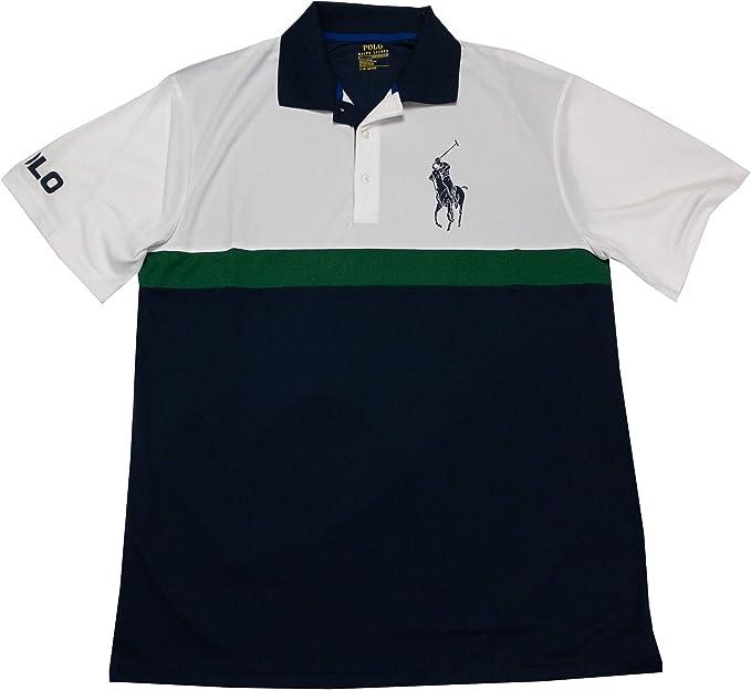 Mens Classic Fit Big Pony Big Tall Short Sleeve Mesh Polo Shirt