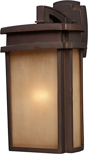 Elk Lighting 42141 1-LED 1 Light Outdoor Clay Bronze-LED Offering Up to 800 Lumens 60 Watt Equivalent with Full Sconce