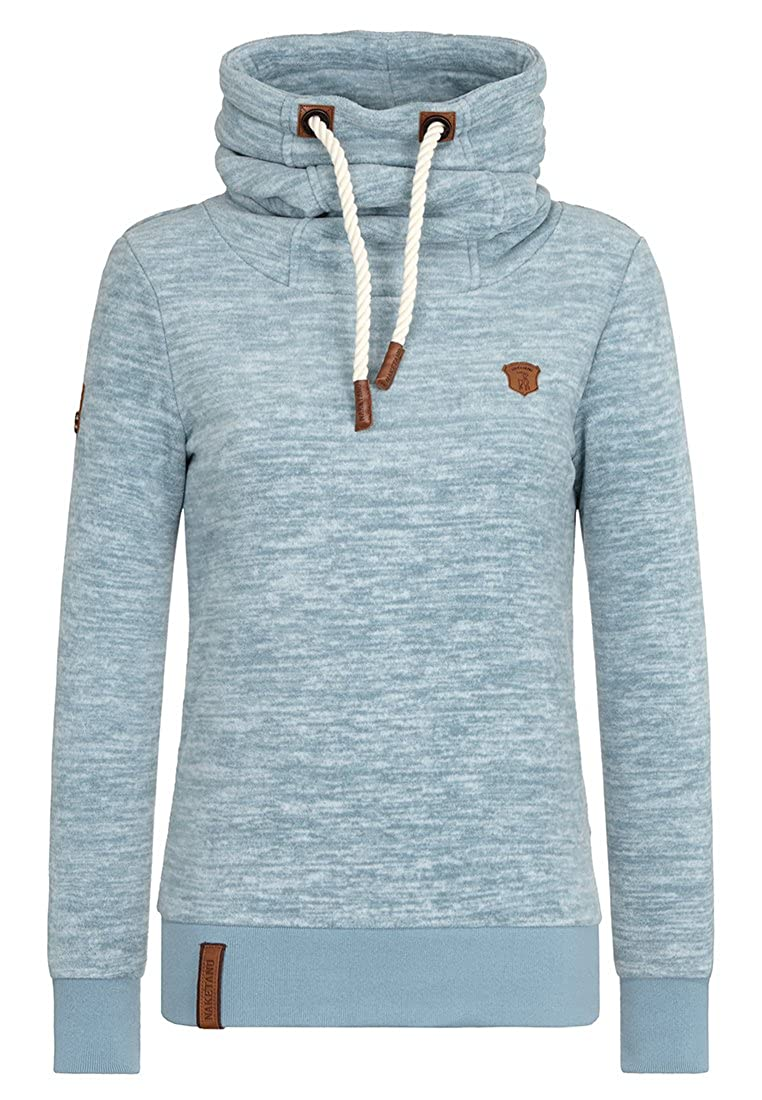 Naketano Women's Hoody Versehentlich reingesteckt III Dusty Blue Melange, S  at Amazon Women's Clothing store: