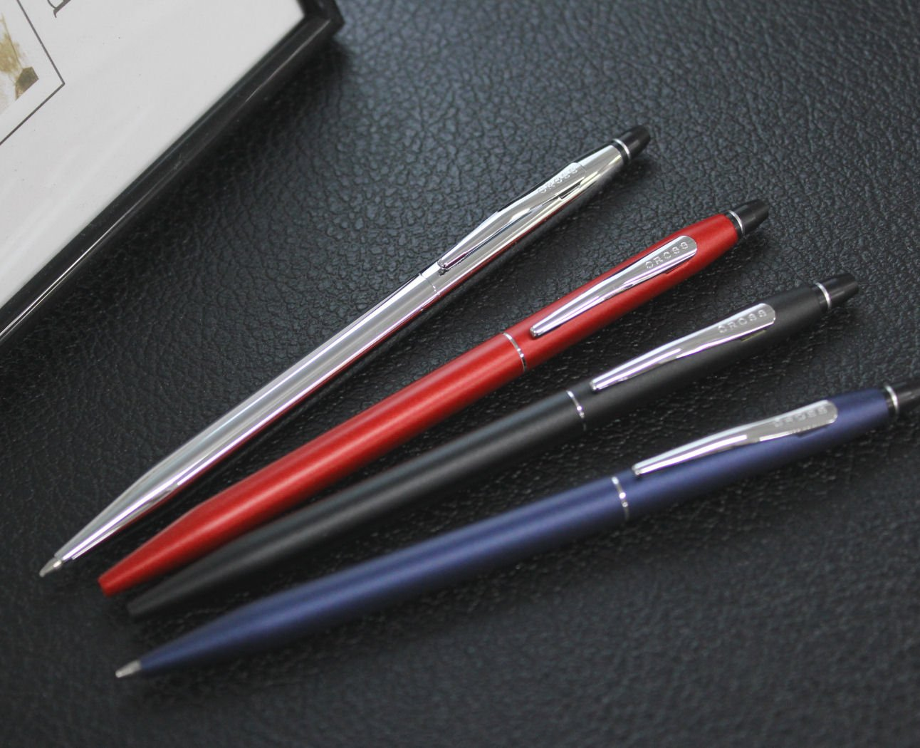 Cross Click Classic Black Ballpoint Pen with Chrome Appointments and Bonus Slim Gel Refill by Cross (Image #4)