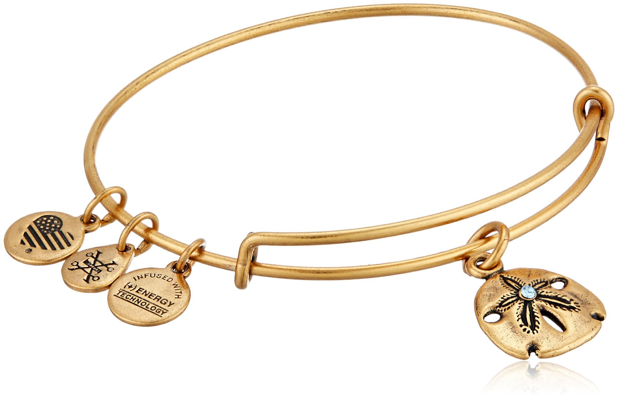 Alex and Ani Sand Dollar III Rafaelian Gold Bangle Bracelet by Alex and Ani (Image #1)