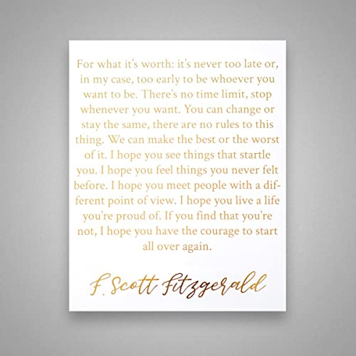 Amazoncom For What Its Worth Its Never Too Late Gold Foil Art