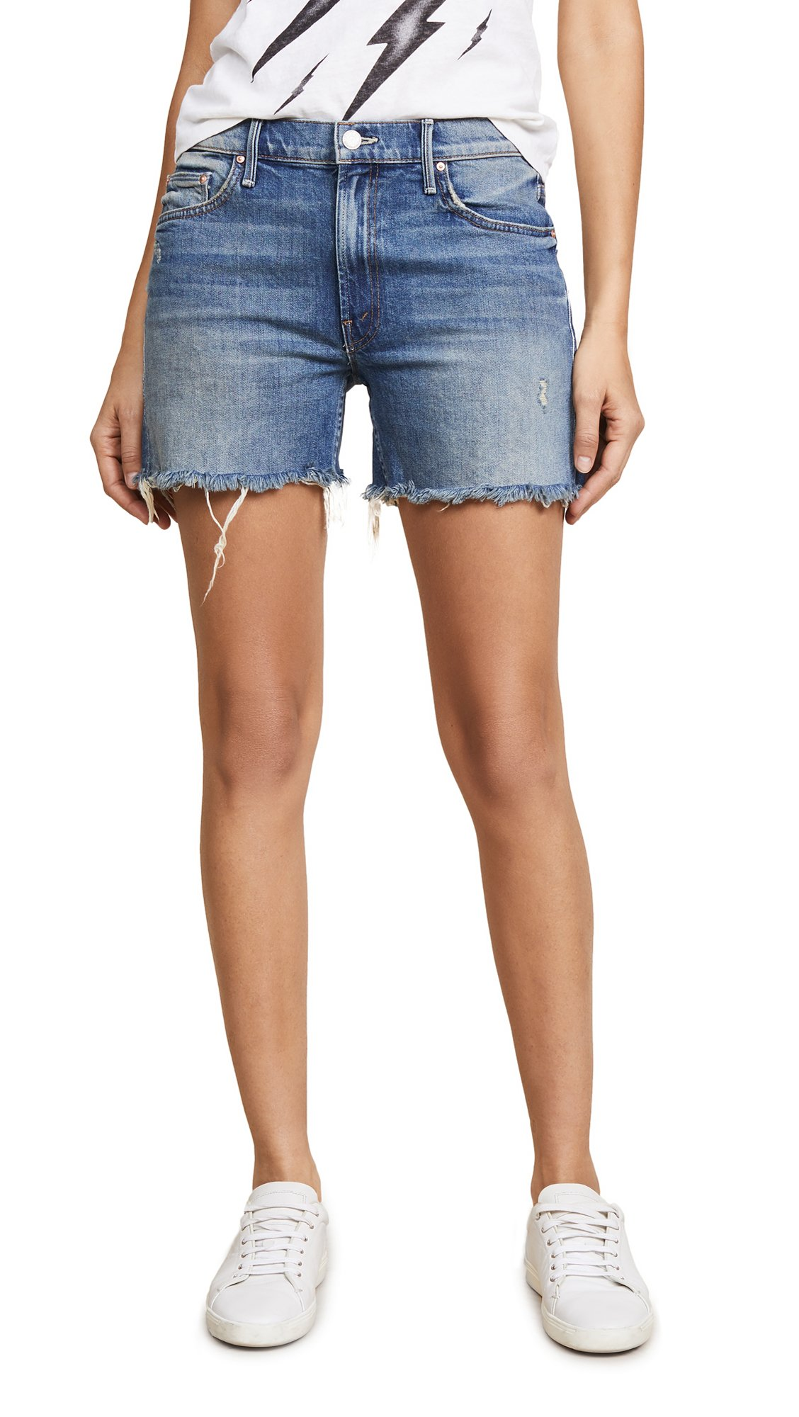 MOTHER Women's The Sinner Fray Shorts, Playing Dirty, 31