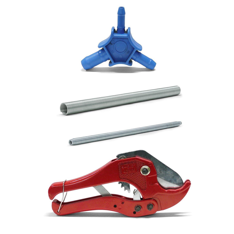 Pipetec Montage-Werkzeug-Set 26x3 mm Rohrschere Kalibrierer Biegefeder Verbundrohr Stabilo-Sanitaer