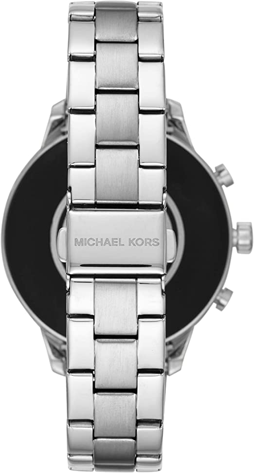 Michael Kors Womens Access Runway Touchscreen Watch with Stainless Steel Strap, SilverTone, 17 (Model: MKT5044)