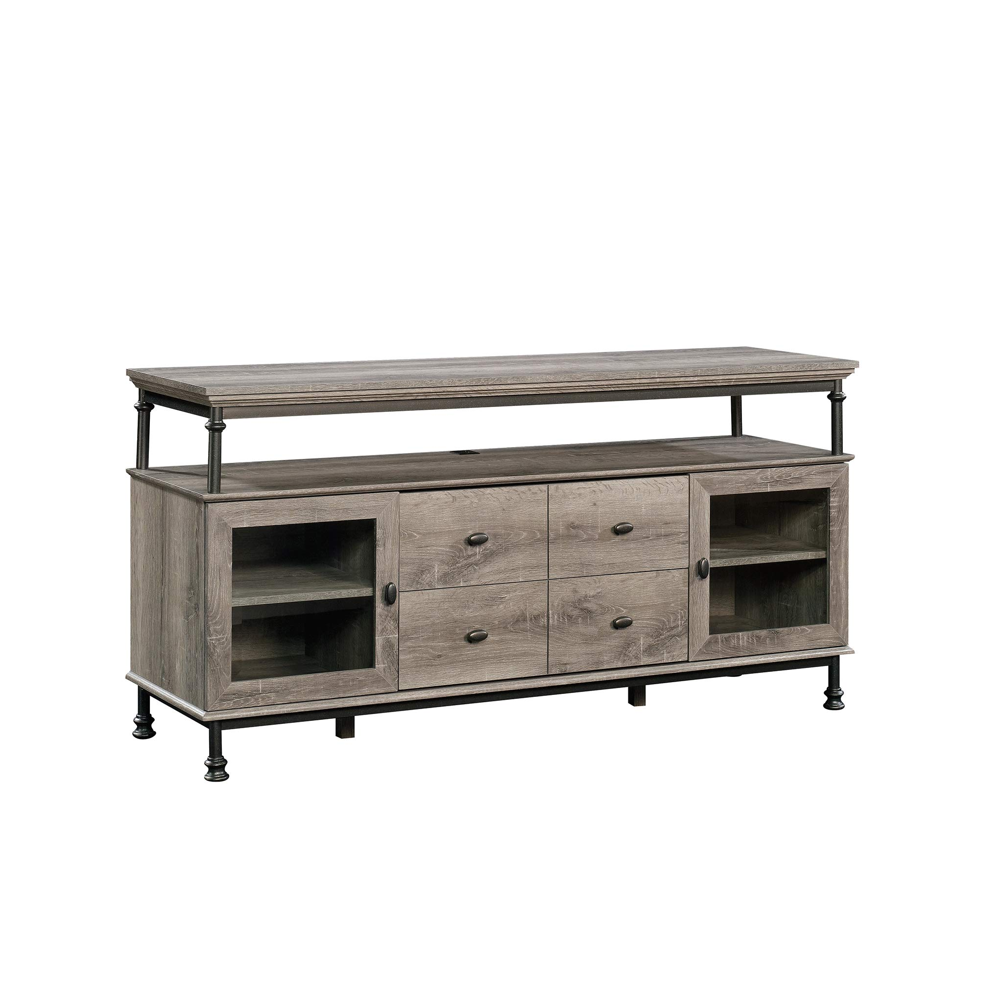 Sauder 420494 Canal Street Entertainment Credenza, For TV's up to 60'', Northern Oak Finish by Sauder
