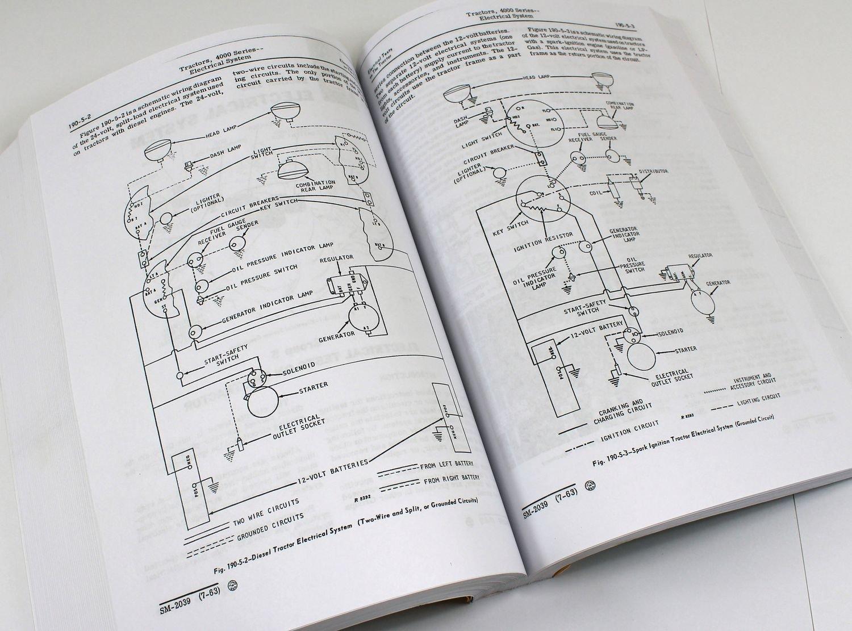 John Deere 4000 Series 4020 4010 Tractors Technical Service Manual Wiring Diagram New Print 746 Pages Diesel Gas Lp Books