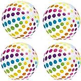 Intex Jumbo Inflatable Big Panel Colorful Giant Beach Ball (Set of 4)   59065EP