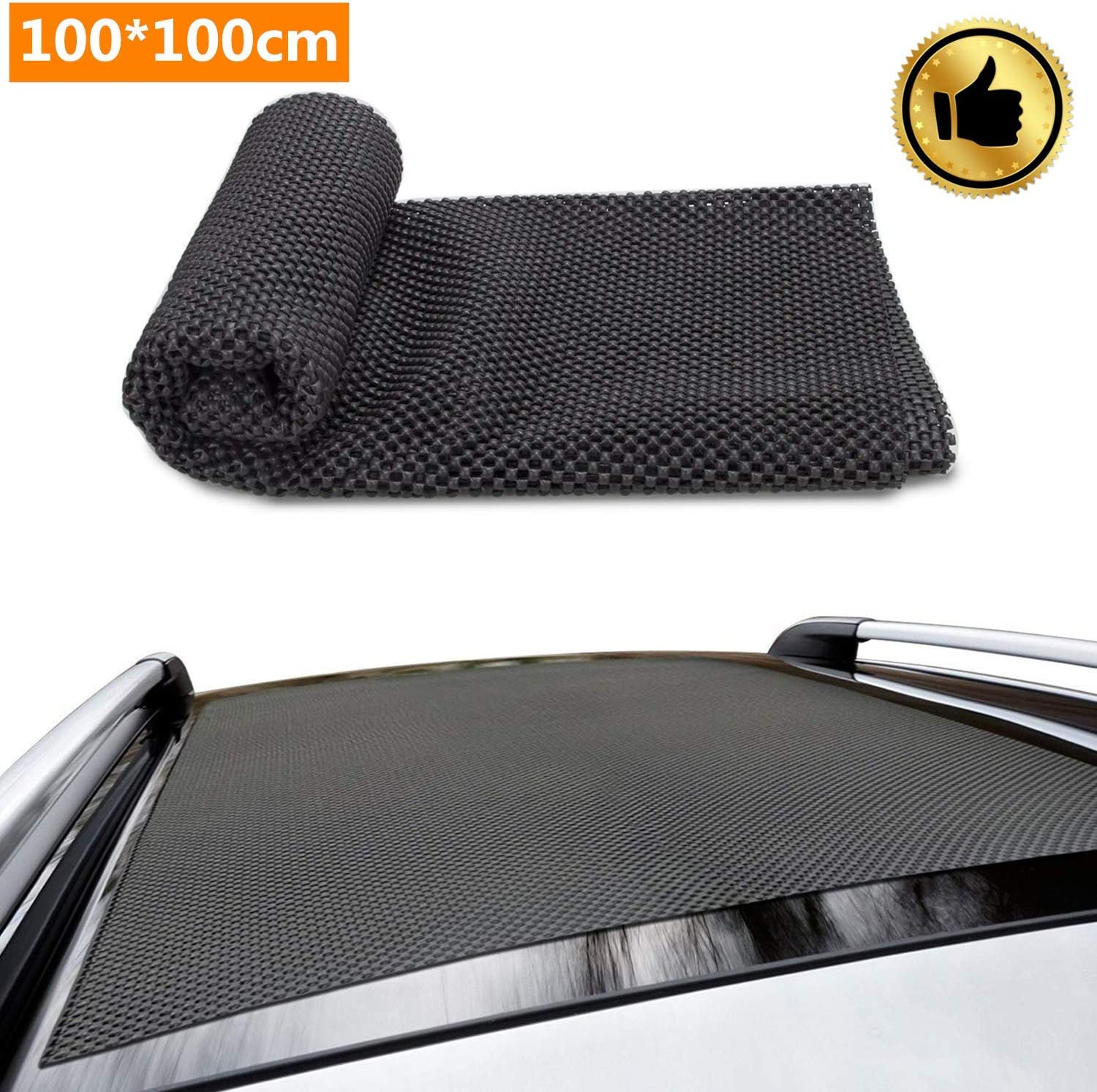 100cm Roof Protective Mat Fit Vehicles,Cars SUVs,Anti-Scratch Car Roof Racks Pads for Roof Storage Bags Cargo Bag Car Top Car Roof Mat Pads,100