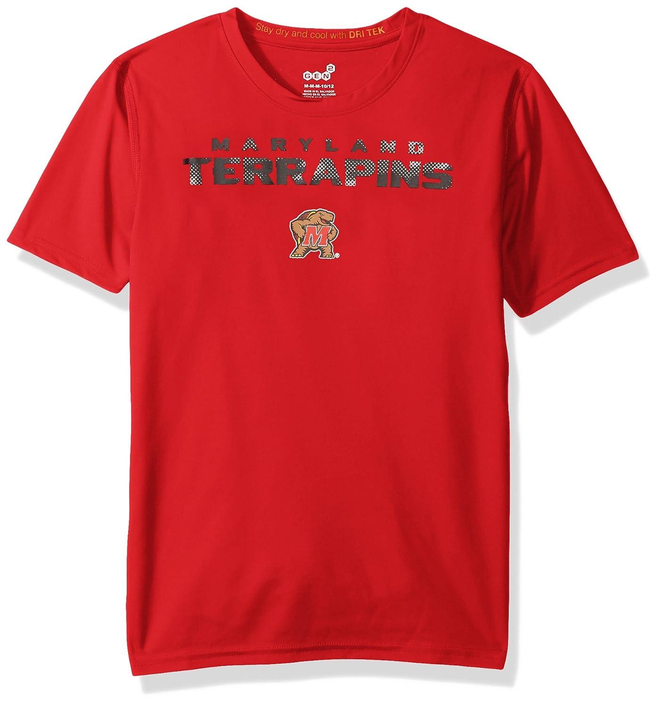 NCAA by Outerstuff NCAA Maryland Terrapins Youth Boys Nebula Dri-Tek Short Sleeve Tee 10-12 Youth Medium Red
