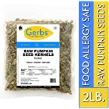 Raw Pumpkin Seed Kernels, 2 LBS by Gerbs – Top 14 Food Allergy Free & NON GMO - Vegan, Keto Safe & Kosher - Premium Quality