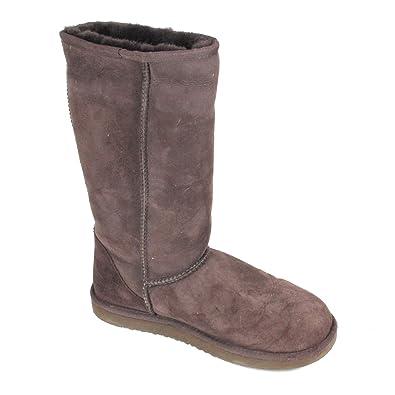 Cozie Steps Womens Tall Classic Australian Sheepskin Boot 8 Chocolate Brown