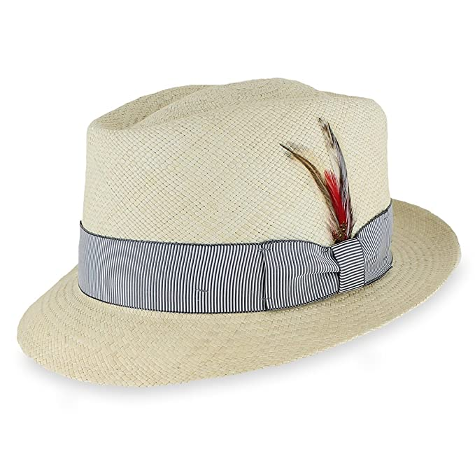 1940s Style Mens Hats  Genuine Panama Straw Hat $77.00 AT vintagedancer.com