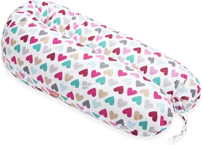 Scamp - Cojín universal para embarazo y lactancia, incluye funda en varios diseños Corazón colorido.