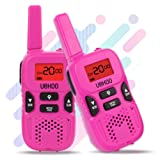 Amazon Price History for:Walkie Talkies for kids, 22 Channel 2 Way Radio 3 Miles FRS/GMRS Handheld Mini Walkie Talkies for Kids, Toys for 3 4 5 6 7 + Old Kids (Fuchsia)